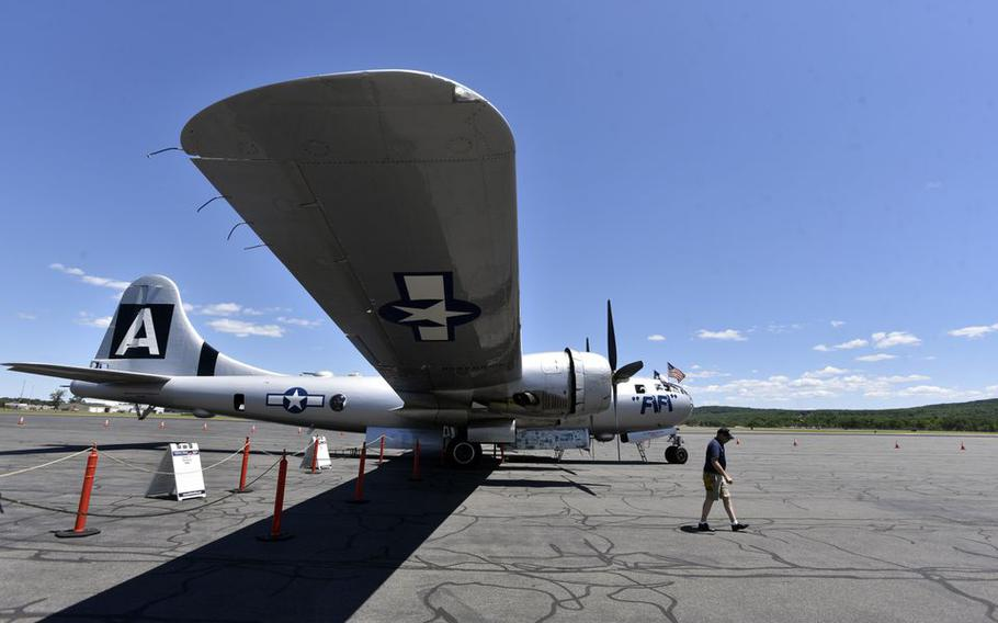 """Fifi,"" a B-29 Superfortress."