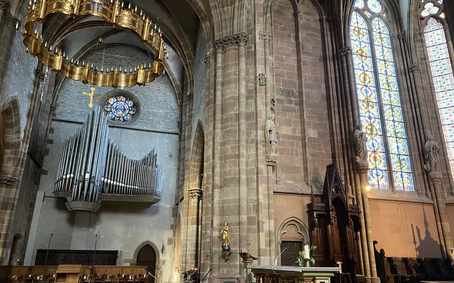 The Church of Saints Peter and Paul in Wissembourg, France, dates from the 13th century.