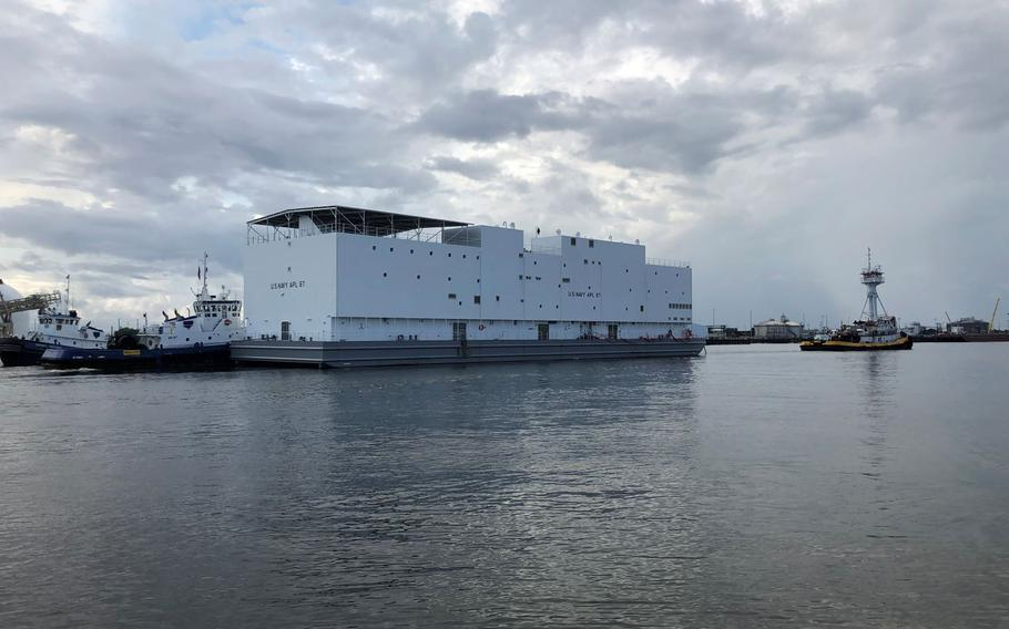 The Navy's newest berthing barge, Auxiliary Personnel Lighter (APL) 67.