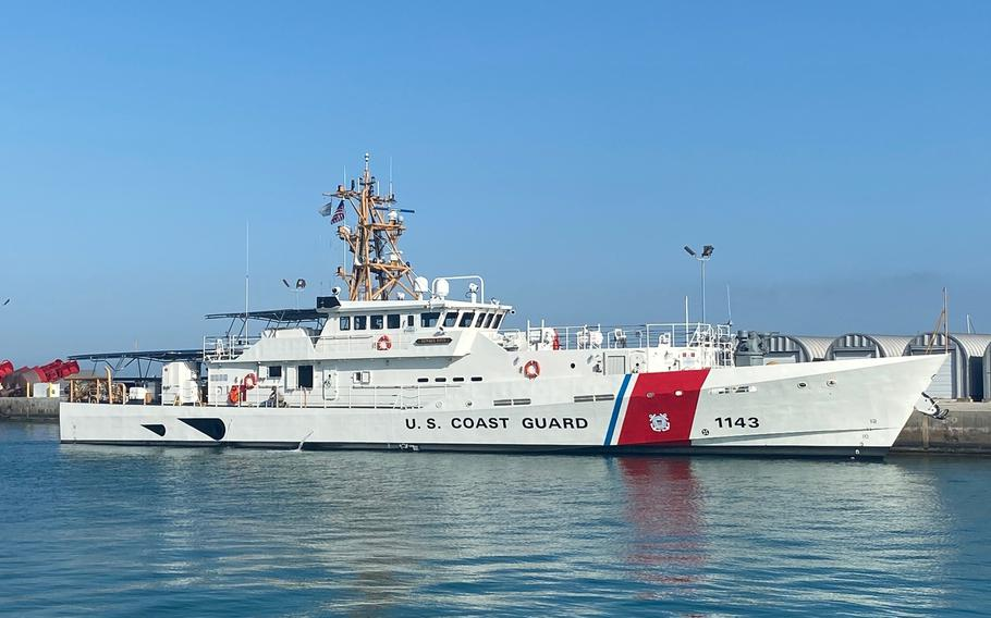 The U.S. Coast Guard cutter Frederick Hatch, seen here at Key West, Fla., Feb. 9, 2021, is one of the service's newest fast-response vessels.