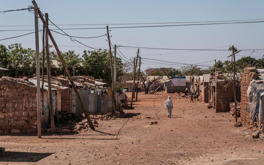 A general view of the Mai Aini Refugee camp, in Ethiopia, on January 30, 2021. The worsening conflict in Ethiopia is raising alarms in the White House and on Capitol Hill over humanitarian fallout.