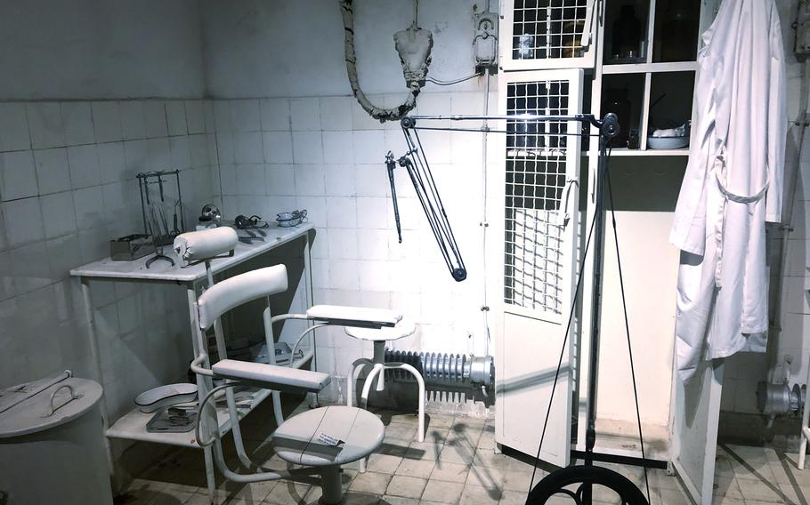 The dentist chair in Simserhof, a WWII fortification that was part of the Maginot Line in eastern France. If the dentist couldn't fix a soldier's dental issue, he simply pulled out his tooth or teeth, according to Benjamin Bellott, a guide at Simserhof, which has been a museum since 1970.