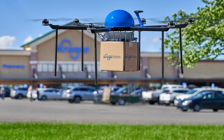 Through a partnership with Drone Express, Kroger is beginning a pilot program to test grocery drone delivery in Centerville, Ohio.
