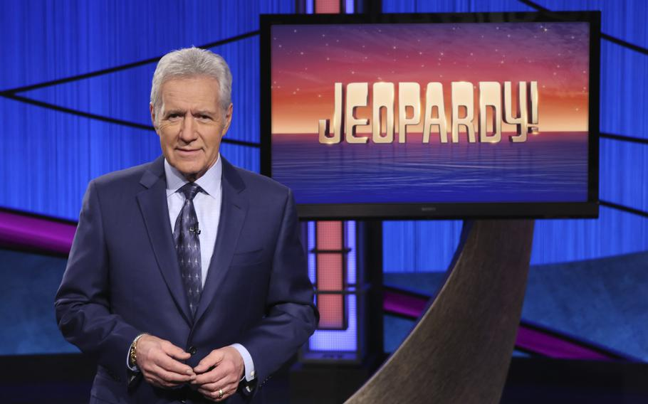 """Alex Trebek, longtime host of the game show """"Jeopardy!""""  Filling the void left by Trebek after 37 years involves sophisticated research and a parade of guest hosts doing their best to impress viewers and the studio that will make the call."""