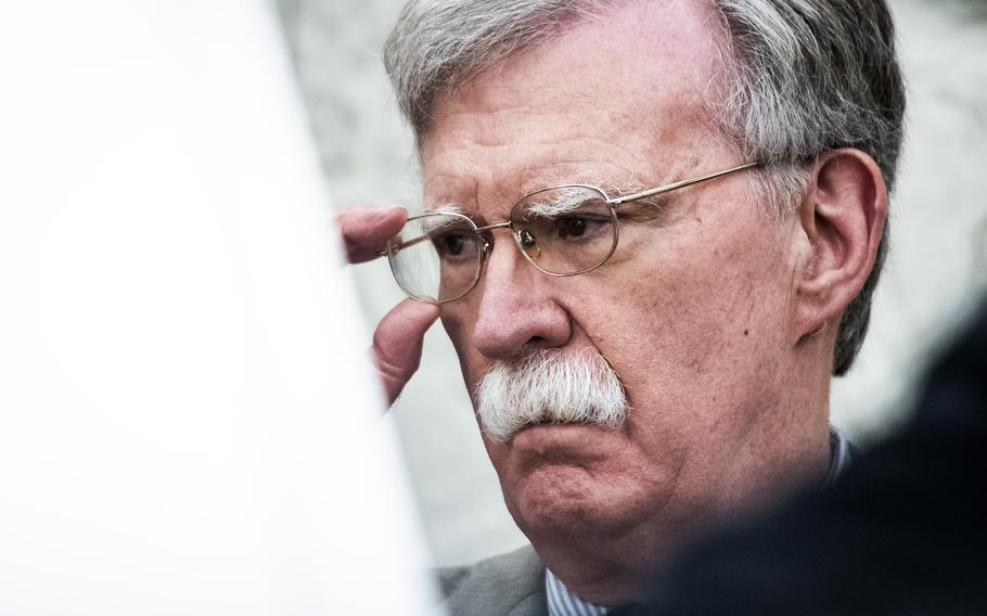 Then-National Security Adviser John Bolton at the White House in August 2019.