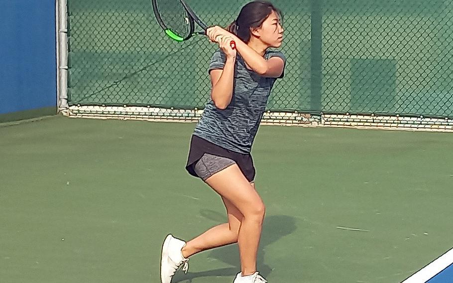 Senior Michelle Yoo is one of three returning girls singles players for Daegu.