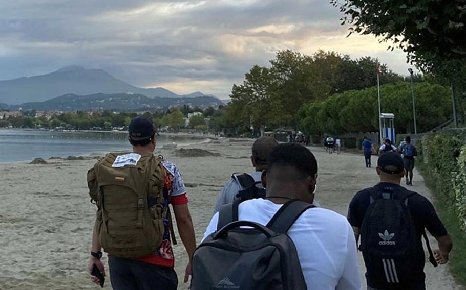 About 350 173rd Airborne Brigade paratroopers took part Sept. 2, 2021, in an annual 12-hour, 40-mile hike along Lake Garda that  memorializes Brig. Gen. William Darby, who was killed in April 1945 by a German artillery shell. One  paratrooper, a sergeant, completed the 40 miles  in eight hours.