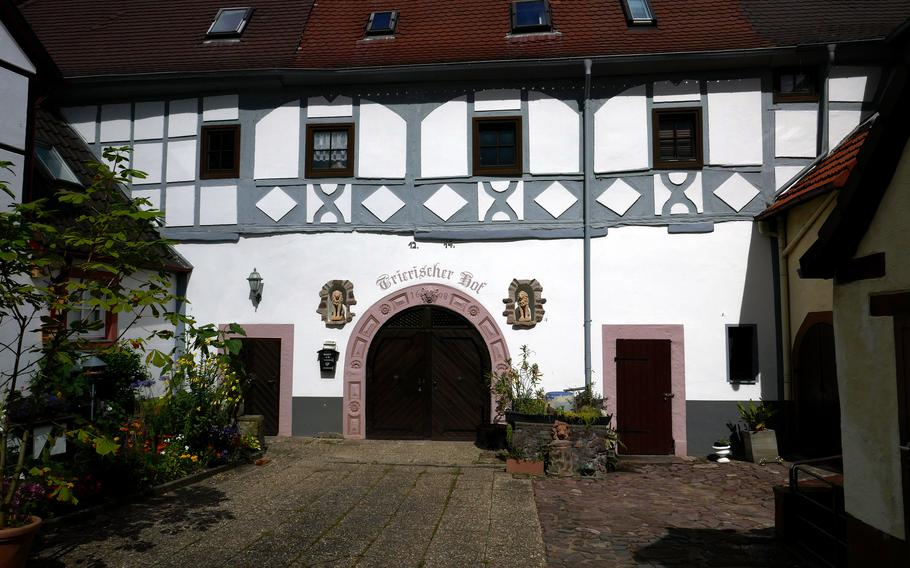 The Trierischer Hof in Dreieichenhain, Germany was originally built before 1400 and housed Burg Hayn's men-at-arms. It was extended in the 17th and 18th centuries.