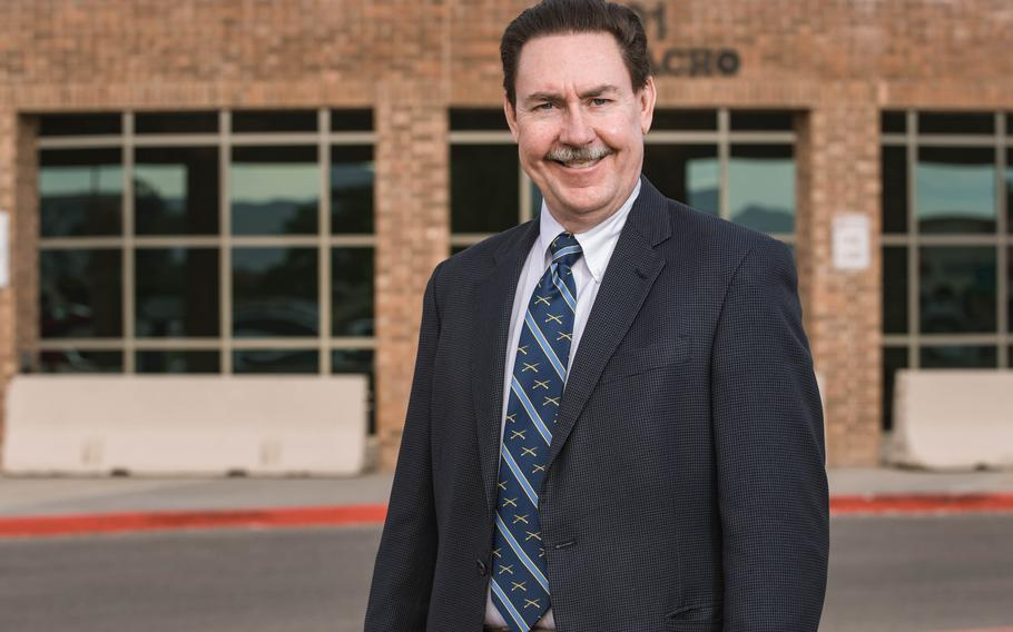 Judge James Martin is pictured in front of the Doña Ana County Third Judicial District Court in Las Cruces on Wednesday, May 26, 2021.