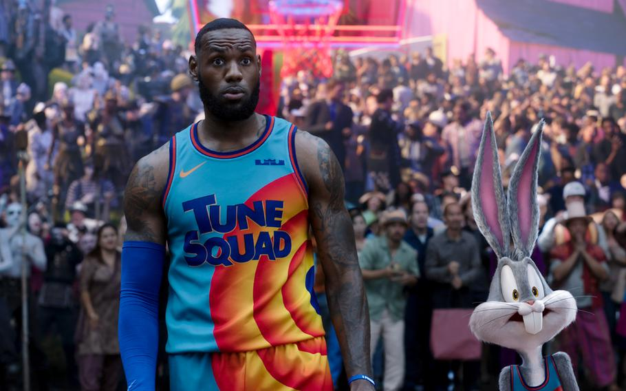"""LeBron James, left, and Bugs Bunny in """"Space Jam: A New Legacy."""""""