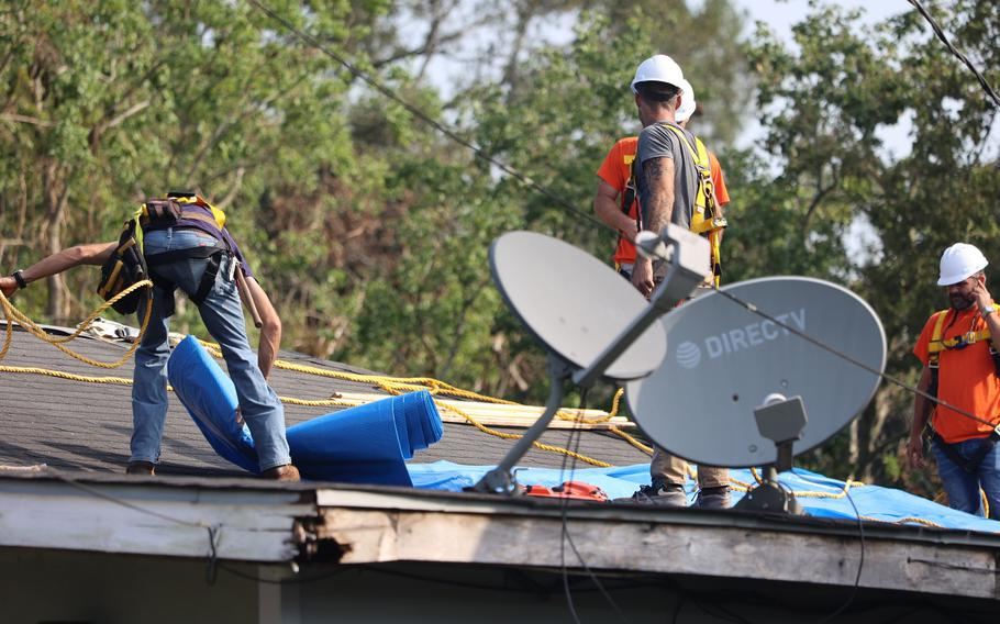 Contractors for the U.S. Army Corps of Engineers (USACE) continue to perform Blue Roof installations for free to homeowners affected by Hurricane Ida.