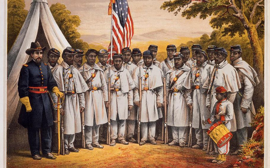 Black troops in Pennsylvania during the Civil War.
