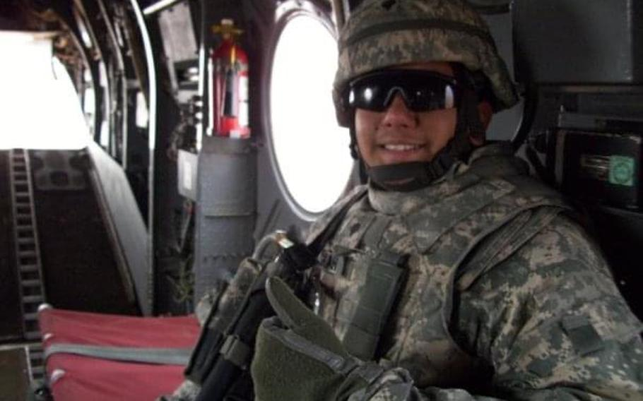 Spc. Naveed Shah pictured in Iraq in 2009. Shah, who was in eighth grade during the 9/11 terrorist attacks, felt compelled to join the military.