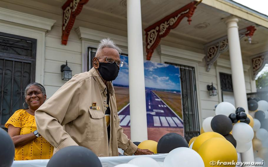 Louisiana native Lawrence Brooks, the oldest known living World War II veteran, celebrated his 112th birthday Sunday, Sept. 12, 2021, at his home in Central City as residents gathered for a drive-by celebration hosted by the National World War II Museum.