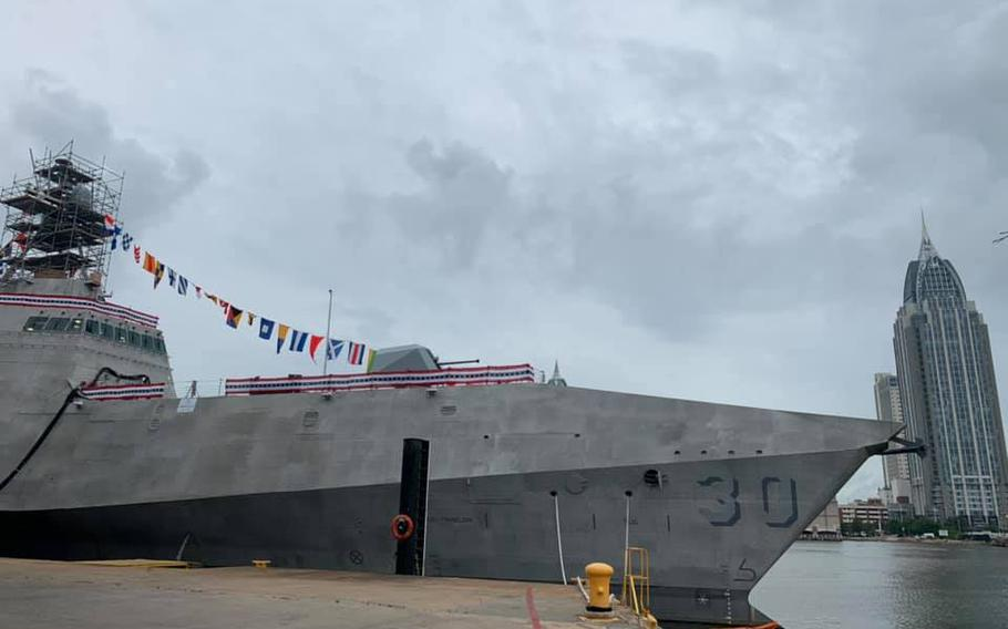 A U.S. Navy littoral combat ship named after Canberra, the capital of Australia.