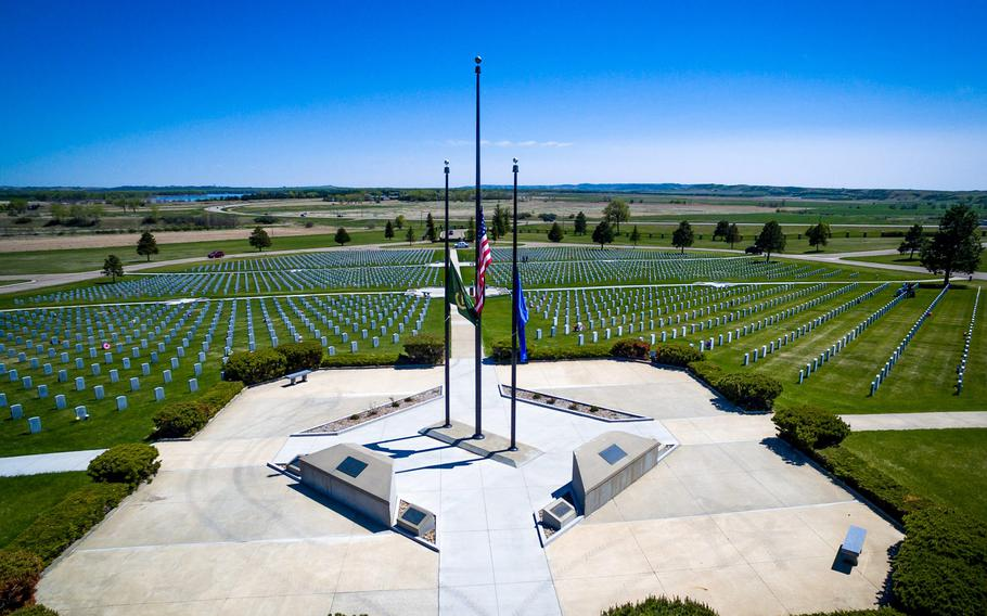 The North Dakota Veterans Cemetery is shown in this undated photo.