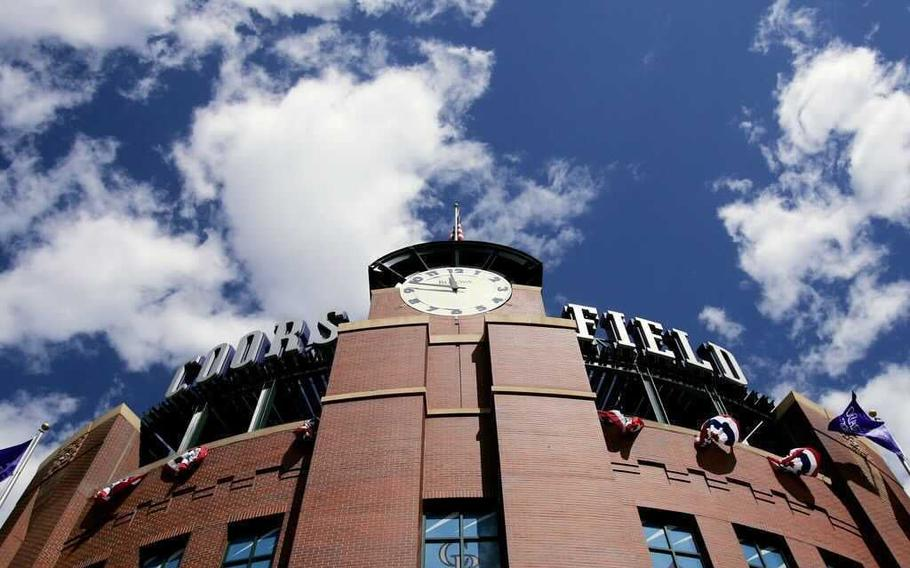 Coors Field in Denver, the host of the 2021 MLB All-Star Game.