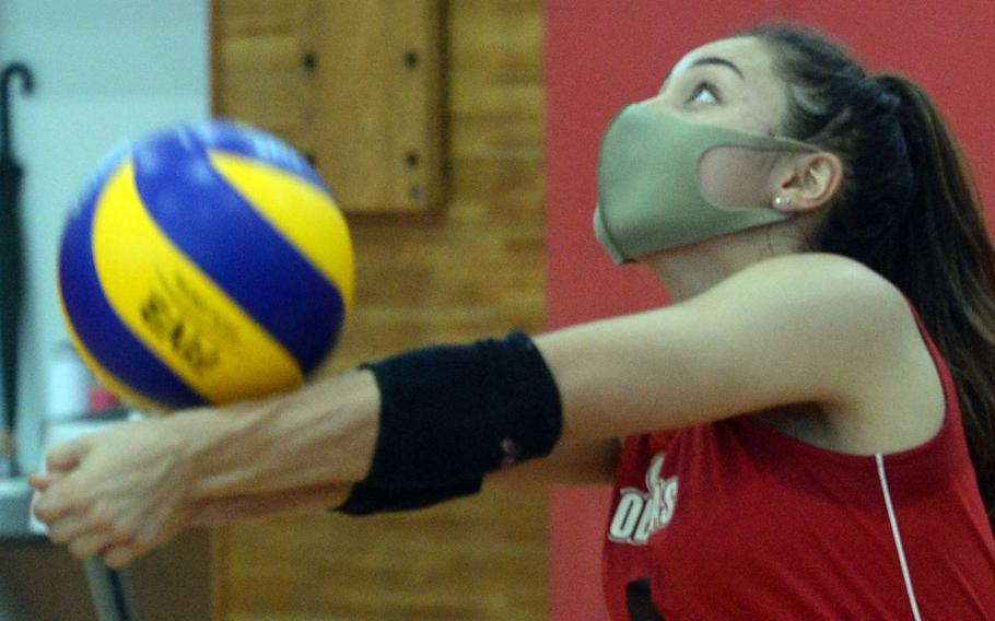 Hanna O'Mara is one of three senior returners for E.J. King volleyball.