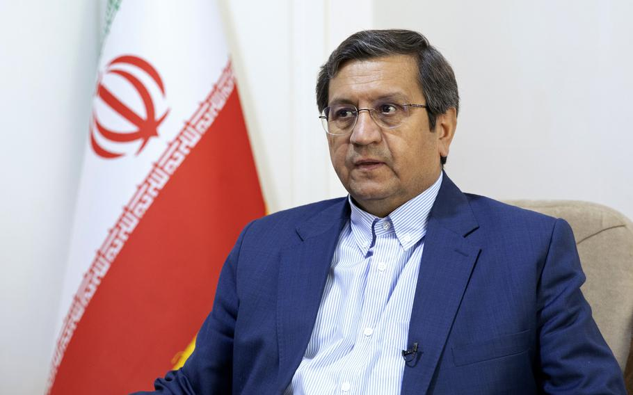 """Former Iranian Central Bank chief Abdolnasser Hemmati, a candidate in Iran's upcoming presidential election said on Wednesday, June 9, 2021, he'd be willing to meet with U.S. President Joe Biden if he wins his country's election next week, though """"America needs to send better and stronger signals"""" to the Islamic Republic."""