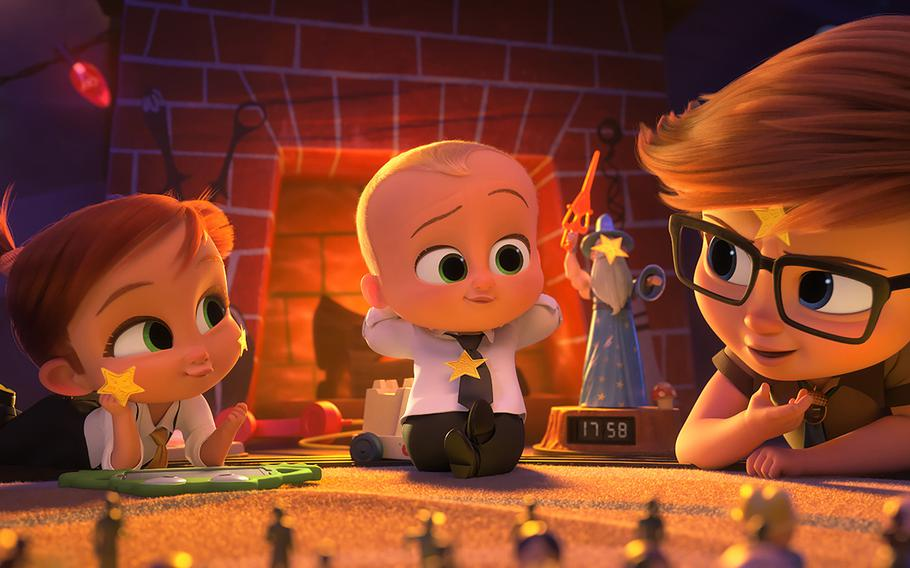 """""""The Boss Baby: Family Business"""" is among the current movie options on military bases."""