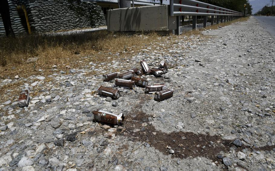 Afghan soldiers sampled goods left by U.S. troops at Bagram Airfield, Afghanistan, July 7, 2021. U.S. troops, contractors and civilians destroyed much of the goods left behind before transferring the base, which rankled the Afghan soldiers.