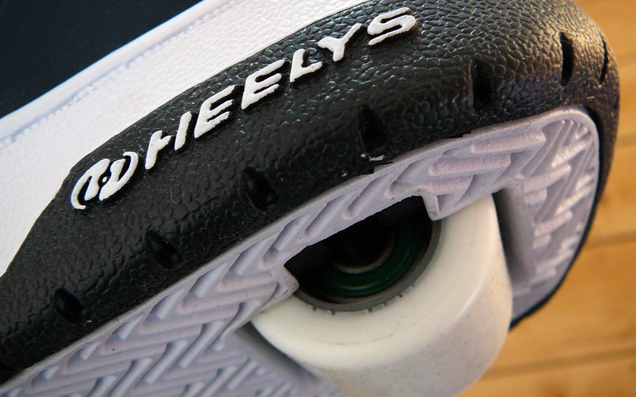 Heelys, an athletic shoe with wheels built into the sole, were introduced in the late 1990s and peaked in popularity in the early 2000s.