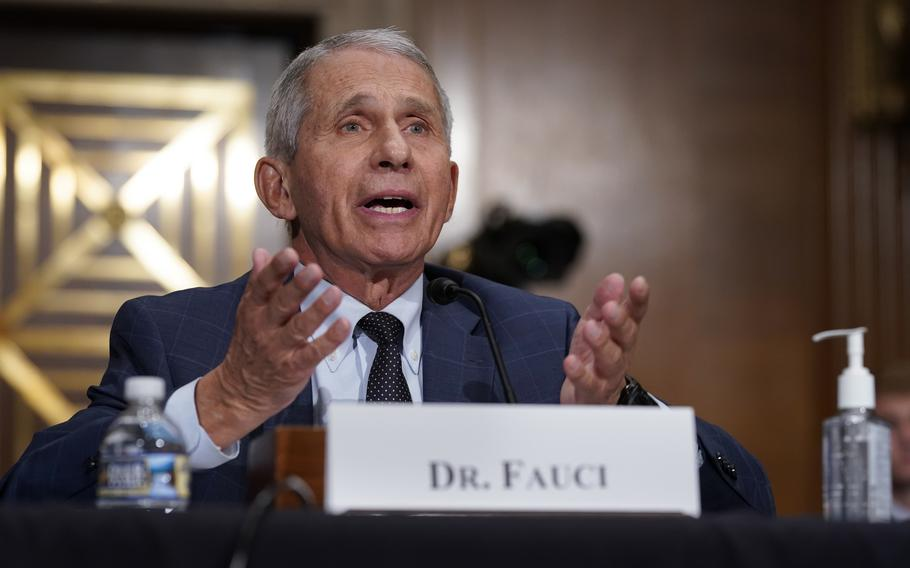 Top infectious disease expert Dr. Anthony Fauci responds to Sen. Rand Paul, R-Ky., as he testifies before the Senate Health, Education, Labor, and Pensions Committee, on Capitol Hill in Washington, July 20, 2021.