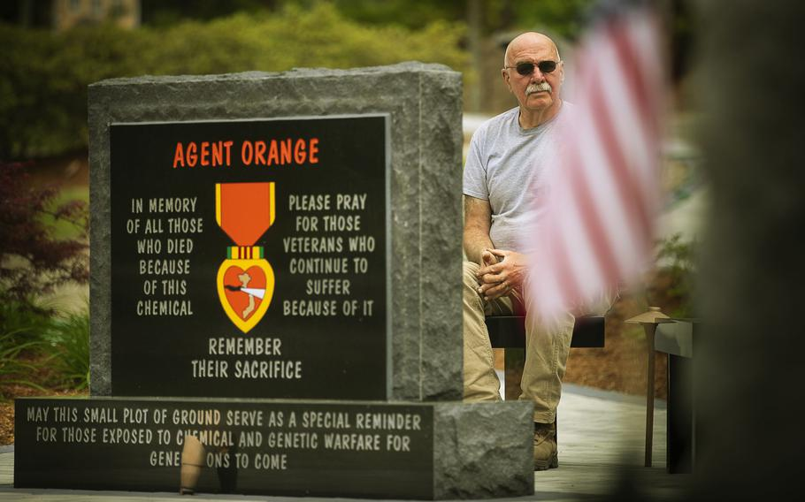 Vietnam veteran Gerry Wright has spearheaded the installation of an Agent Orange monument, funded entirely by donations, in the veterans park in his hometown.