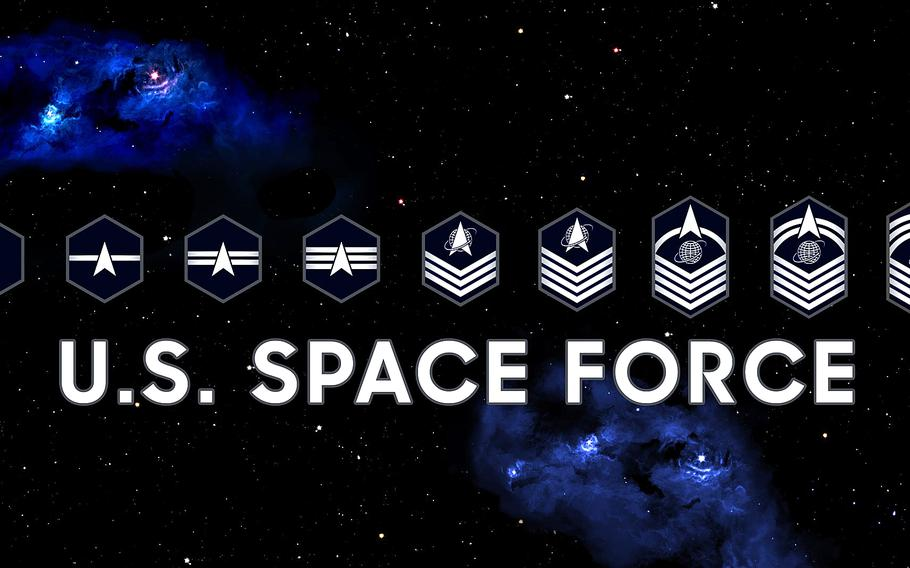 The Chief Master Sgt. of the Space Force updated his Facebook cover photo with the newly revealed rank insignia for the enlisted side of the force.