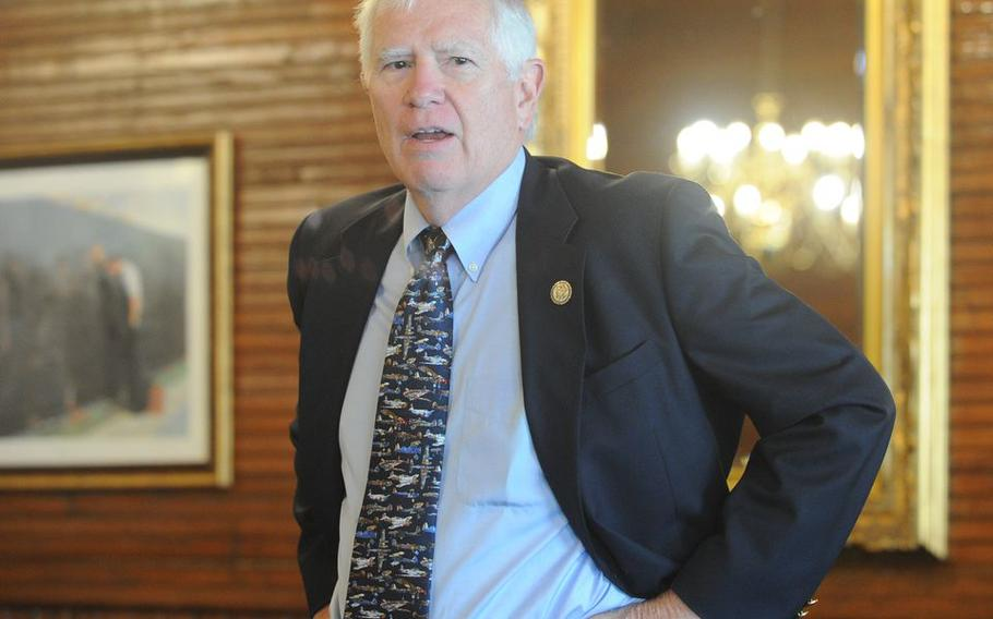 U.S. Rep. Mo Brooks, R-Huntsville, speaks during a breakfast on Thursday, June 10, 2021, at the Gift Horse Restaurant in Foley, Ala. While there was no indication the rally at the USS Alabama Battleship Memorial Park was being held to support a political candidate, former President Donald Trump has already endorsed Brooks in the 2022 U.S. Senate race to replace retiring Senator Richard Shelby.