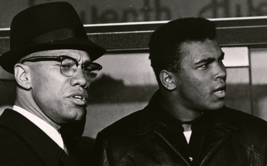 """Human rights activist Malcolm X, left, and heavyweight boxer Muhammad Ali are the subjects of the documentary """"Blood Brothers,"""" now streaming on Netflix."""