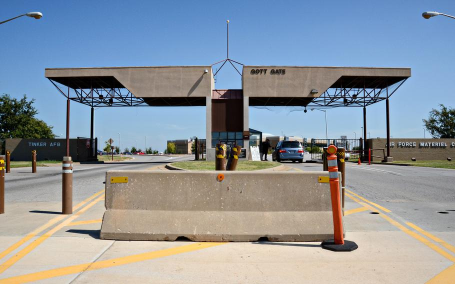 The Gott Gate at Tinker Air Force Base.