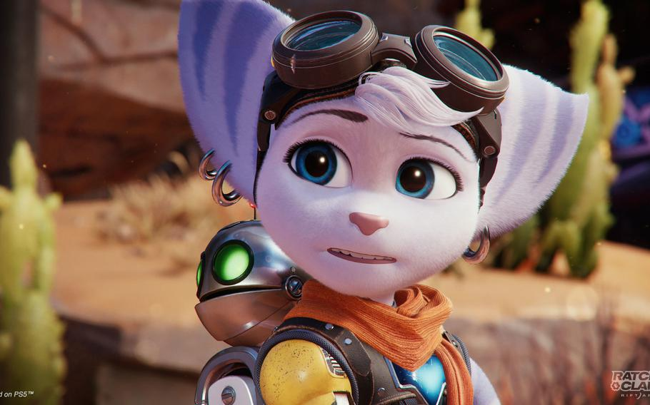 Rift Apart introduces a female counterpart to Ratchet named Rivet.