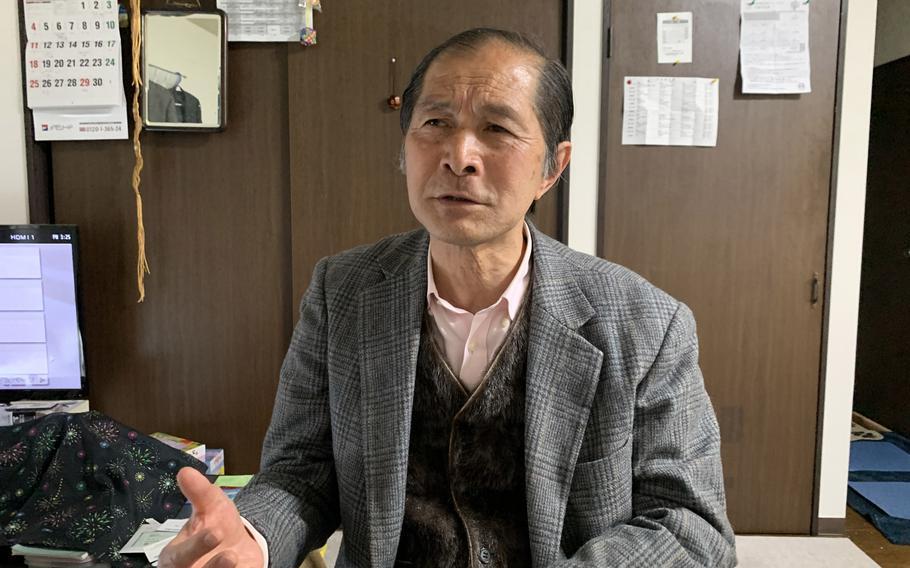 Tokio Ito, 70, at his home in Ota, Japan.