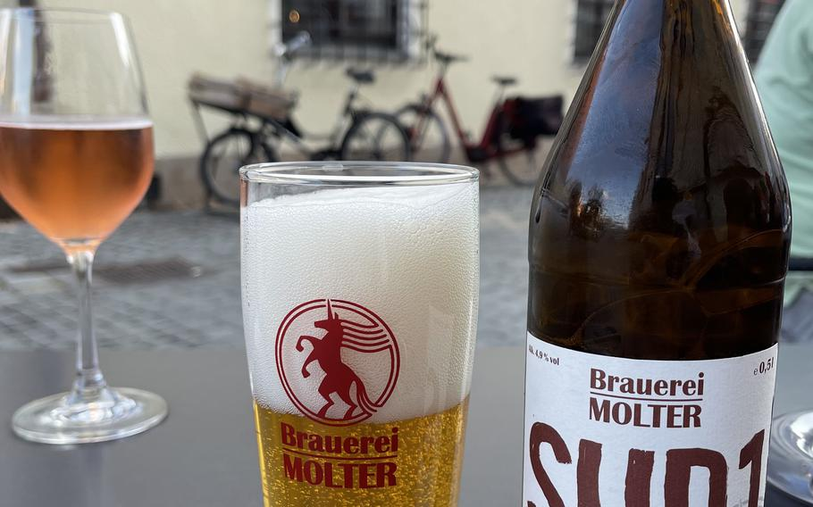 The SUD1 beer or house wine at Egon's La Bodega in Weiden, Germany, is the perfect drink to start off with.