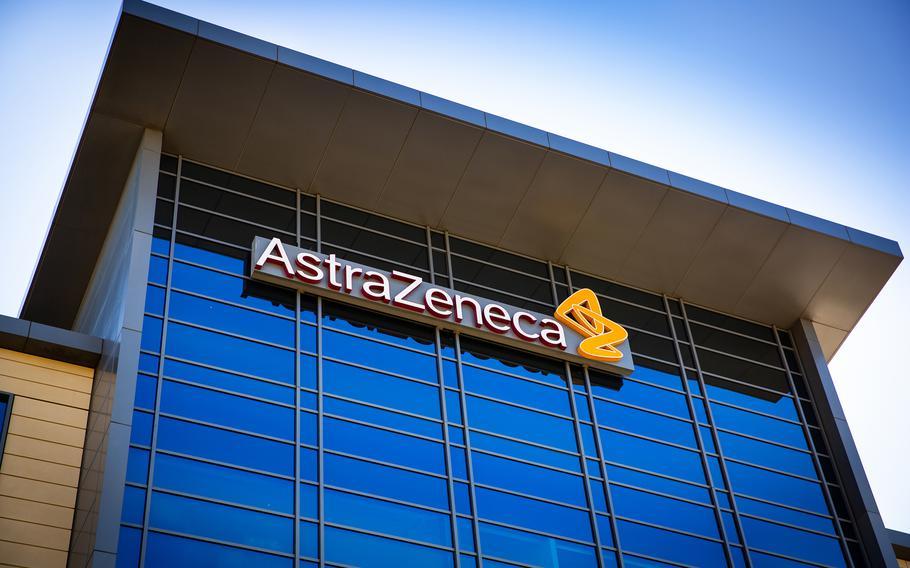 An AstraZeneca building corporate office on Feb. 24, 2021, in South San Francisco, California. (Valeriya Zankovych/Dreamstime/TNS)