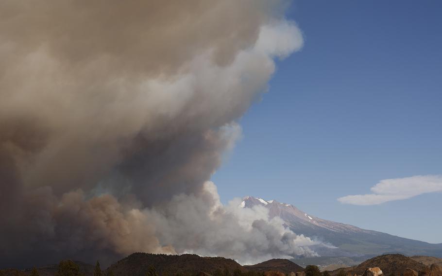 The Lava Fire, near Mount Shasta and Lake Shastina in Siskiyou County, California, on June 27, 2021.