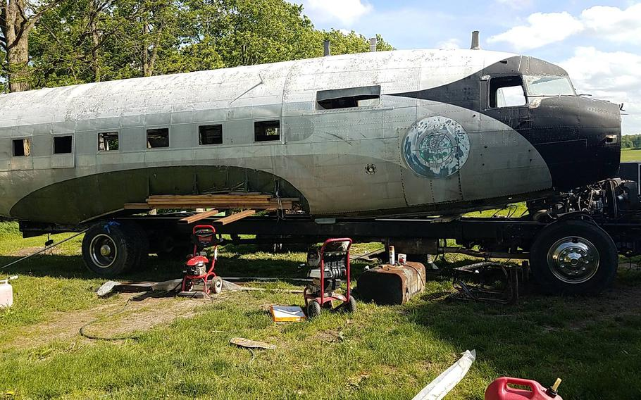 The R4D, the Navy version of the C-47 transporter, that retired Air Force Master Sgt. Gino Lucci bought in May 2019 and turned into a motor home, is 38 feet long, just under the maximum length allowed in the U.S. for a road vehicle.