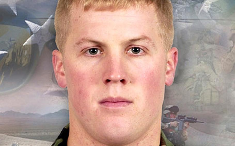 First Lt. Derek Hines was killed during a 2005 firefight in Baylough, Afghanistan.