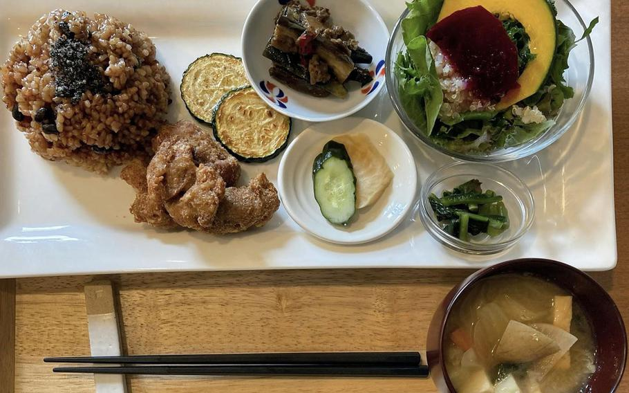 Dishes at Organic Cafe koto-koto in western Tokyo are plant-based and inspired by tradiitonal Japanese cuisine.