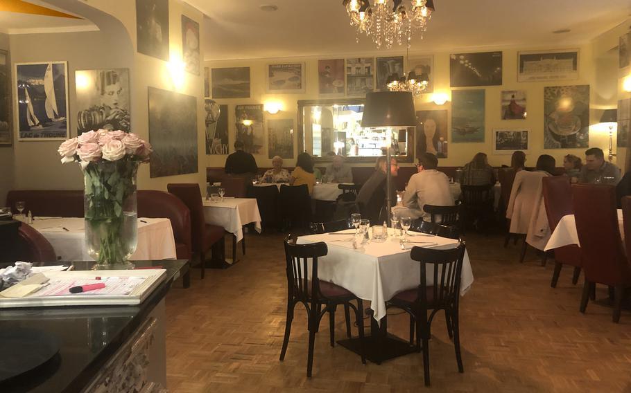 The indoor dining area at Julien restaurant in Kaiserslautern.