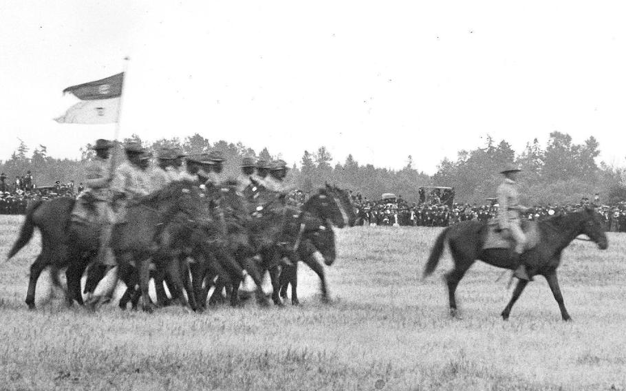 Black troopers from the 9th Cavalry Regiment pass in review following the American Lake Maneuvers of 1904 on what is now Fort Lewis. In the decades following the Civil War, the black regiments, known as Buffalo Soldiers, had a reputation for being among the most professional and well-trained in the Army.