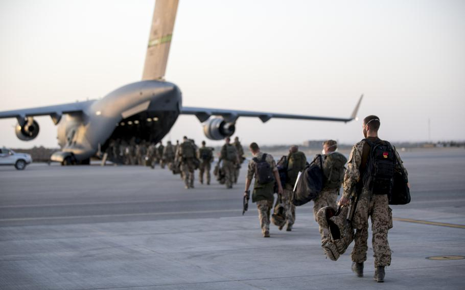 The German mission in Afghanistan ends with service members heading to the last Airbus A400M leaving the Mazar-e-Sharif airfield for home, June 29, 2021.