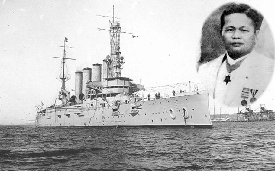 Fireman Second Class Telesforo Trinidad was awarded the Medal of Honor for heroic actions after a boiler explosion on the armored cruiser USS San Diego, Jan. 21, 1915.