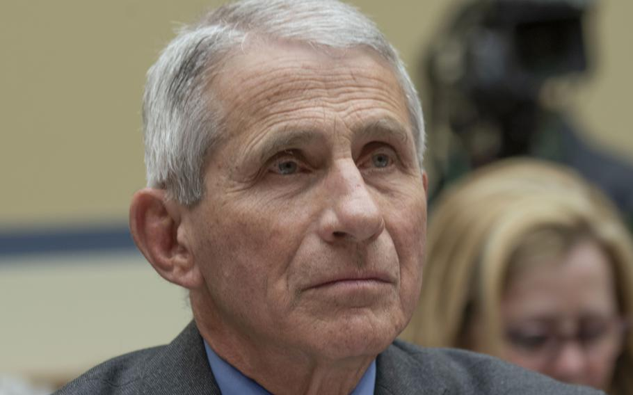 Dr. Anthony Fauci, at a Capitol Hill hearing in March, 2020.