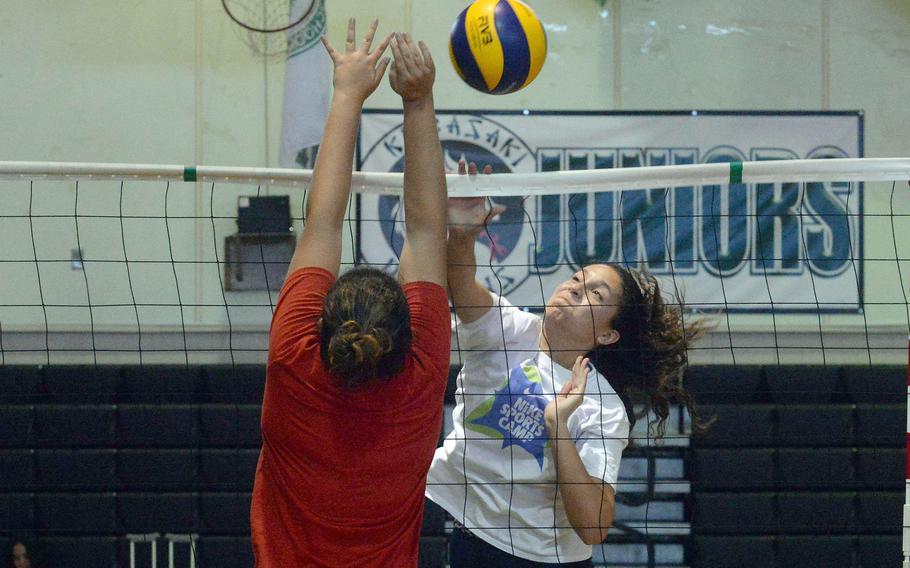 Junior Sophia Grubbs returns from the 2019 season and is Kubasaki's prime volleyball hitter.