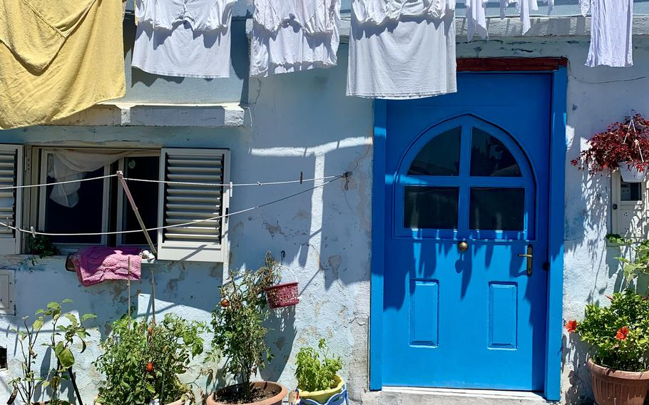 The streets of Procida are filled with colorful buildings, which serve as residences, shops and businesses.
