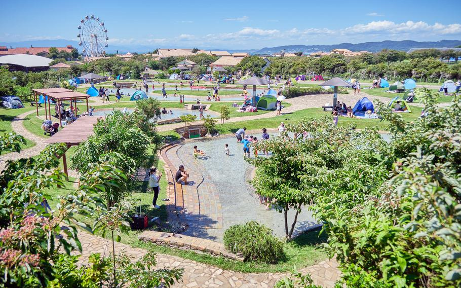 Soleil Hill Park near Yokosuka Naval Base, Japan, offers a considerable number of activities, from playgrounds to go-karts, both for a fee and for free.