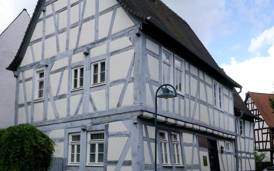 The Ludwig-Erk-Haus is the oldest of many half-timbered house in Dreieichenhain, Germany. Built in 1460 for the clergy, it was later used as a school. It is named after Ludwig Erk, a collector of German folk songs who lived there in his youth.
