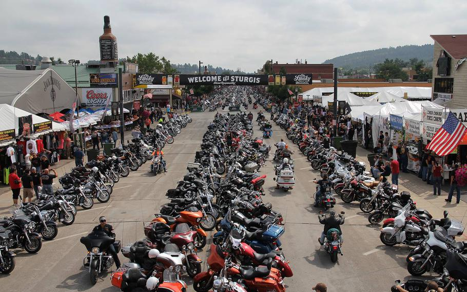 The Sturgis Motorcycle Rally from 2014.